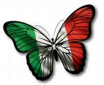 Beautiful Butterfly  With Italy Italian il Tricolore Flag Vinyl Car Sticker 130x90mm